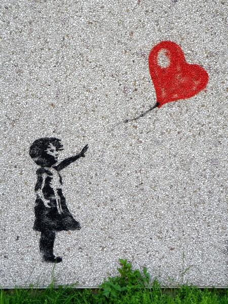 La bambina col palloncino Banksy Foto di Zorro4 da Pixabay