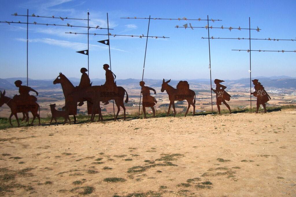 Sul Cammino di Santiago, installazione Spagna Tour