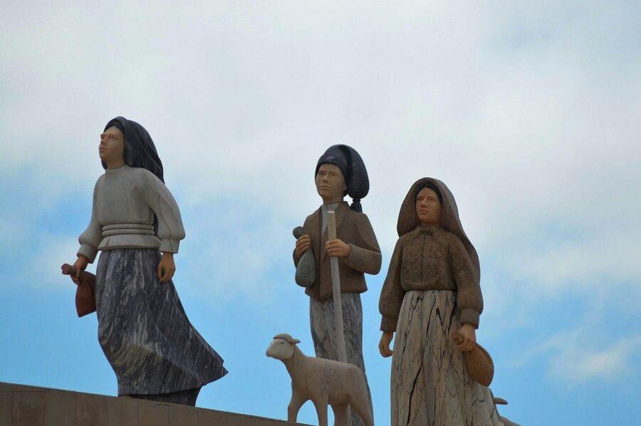 Santuario di Fatima i tre pastorelli